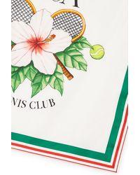 CASABLANCA Seidenschal Casa Tennis Club - Grün