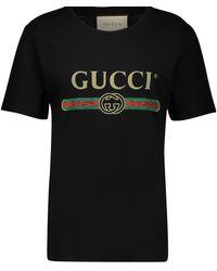 Gucci - T-Shirt mit Logo in Oversize-Passform - Lyst