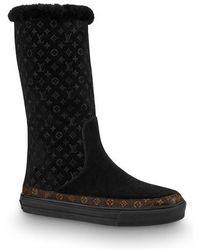 Louis Vuitton Snowball Flat Half Boot - Black