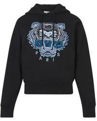 KENZO Sweatshirt à capuche Tigre - Noir