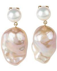 Sophie Bille Brahe Venus Rose Earrings - Pink