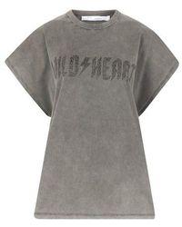 IRO T-shirt oversized Wilde - Gris