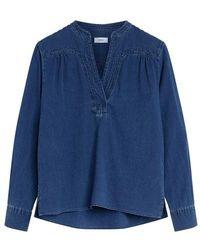 Closed Blouse Nyssa en coton - Bleu