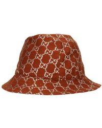 Gucci - GG Lamé Bucket Hat - Lyst
