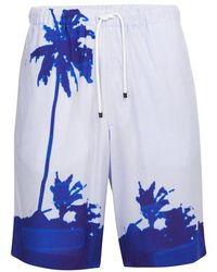 Dries Van Noten Piperi Shorts - Blue