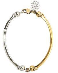 Alexander McQueen Bracelet Skull - Métallisé