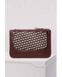 Pierre Hardy - Canvas Cube Calf Zipped Pouch - Lyst