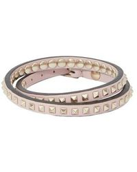 Valentino Bracelet Rockstud Double Garavani - Multicolore