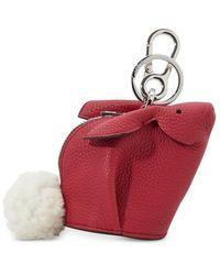 Loewe Bunny Bag Charm - Red