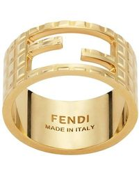 Fendi Baguette Ring - Metallic