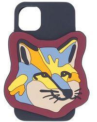 Maison Kitsuné Xxl Neon Fox Head Iphone Case - Multicolour