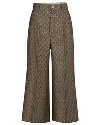 Gucci Jupe-culotte en laine mélangée - Neutre