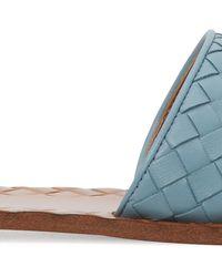 Bottega Veneta Ravello Intrecciato Leather Slides - Blue