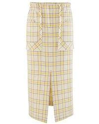 Rejina Pyo Ellie Cotton-blend Skirt - Yellow