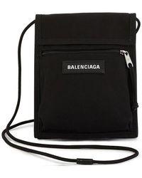 Balenciaga Neckback mit Logo Explorer - Schwarz