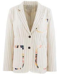 La Prestic Ouiston Striped Jacket - Natural