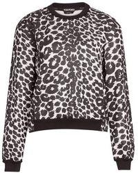 Tom Ford Oberteil mit Leopardenprint - Schwarz