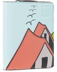 Loewe La Palme – Kompaktes Portemonnaie mit Reißverschluss - Mehrfarbig