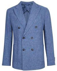 Frescobol Carioca Linen Blazer - Blue