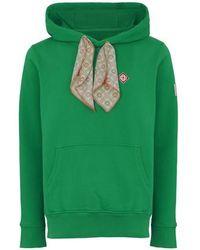 CASABLANCA Sweatshirt Scarf Hooded - Vert