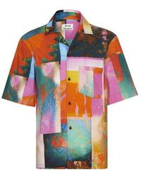 Acne Studios Simon Plant Vacation Shirt - Multicolour