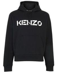 KENZO Chemise à manches courtes Flower - Noir