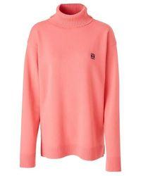 Loewe Anagram Turtleneck Jumper - Pink