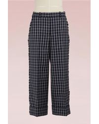 Thom Browne - Check Wool Cropped Trousers - Lyst