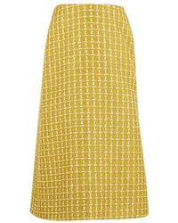 Balenciaga Kick wool skirt - Gelb