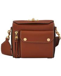 Alexander McQueen Box Bag 21,5 Shoulder Bag - Brown