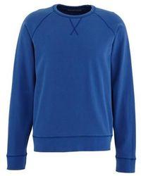 Officine Generale Clement Round Neck Sweatshirt - Blue
