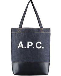 A.P.C. Tote bag Axelle - Bleu