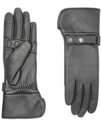 Agnelle Handschuhe Hooper Taktil mit Futter aus Alpaka - Grau