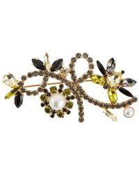 Erdem Crystal Bee Brooch - Yellow