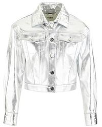 Fendi Denim Jacket - Metallic