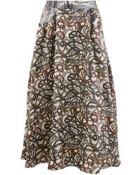 La Prestic Ouiston Burty Midi Skirt - Multicolor