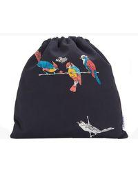 Loewe Paula's Ibiza - Drawstring Pouch Parrot Small - Black