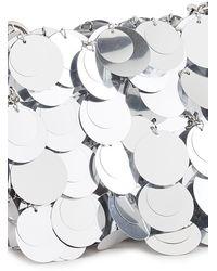 Paco Rabanne Sparkle Nano Bag In Silver Polyester - Metallic