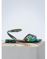 KENZO - Leather Flat Daria Sandals - Lyst