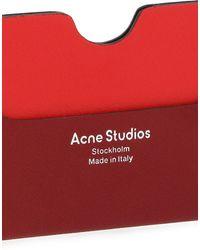 Acne Studios Kartenetui - Rot