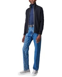 Versace Jean à imprimé - Bleu