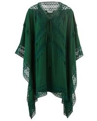 Self-Portrait Kaftan - Green