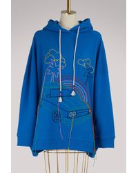 Mira Mikati - Embroidered Cotton Hoodie - Lyst