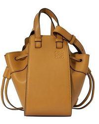 Loewe Hammock Mini Leather Bag - Brown