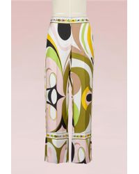 Emilio Pucci - Maschere Print Silk Pyjama Trousers - Lyst