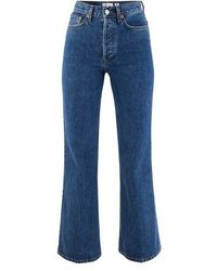 RE/DONE 70s Bell Bottom Jeans - Blue