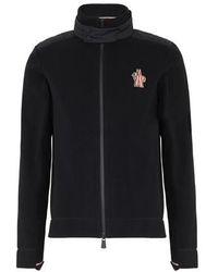 3 MONCLER GRENOBLE Zipped Cardigan - Black