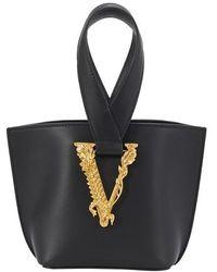 Versace Virtus Bucket Bag - Black