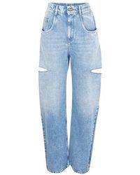Maison Margiela 5-pocket Trousers - Blue