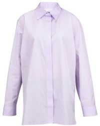 The Row Chemise manches longues Big Sisea - Violet